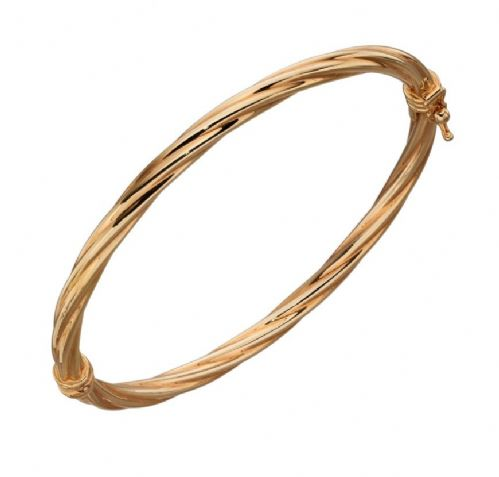 Twist Gold Bangle (GB450)